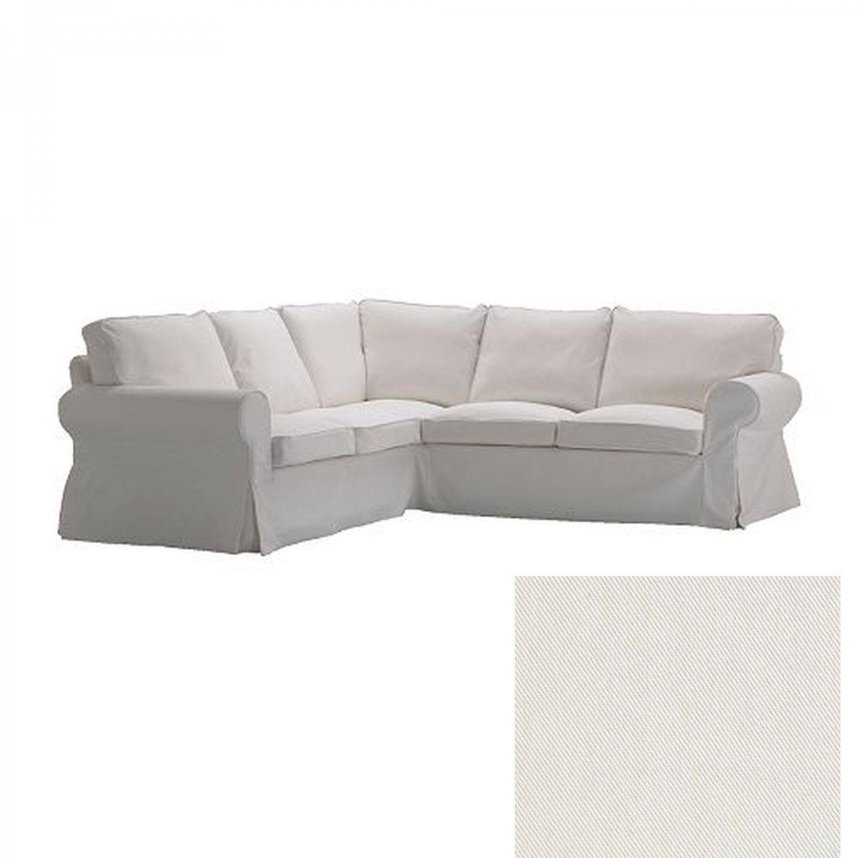 Ikea Ektorp 2 2 Corner Sofa Cover Slipcover Blekinge White 4 Seat Sectional Covers Cotton With Images Corner Sofa Covers