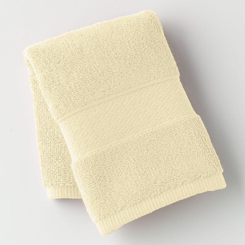 Chaps Home Turkish Premium Cotton Solid Washcloth, White