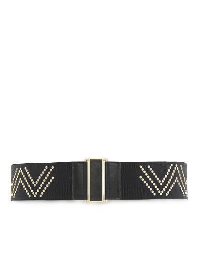 MANGO - TOUCH - Metal embellished waist belt