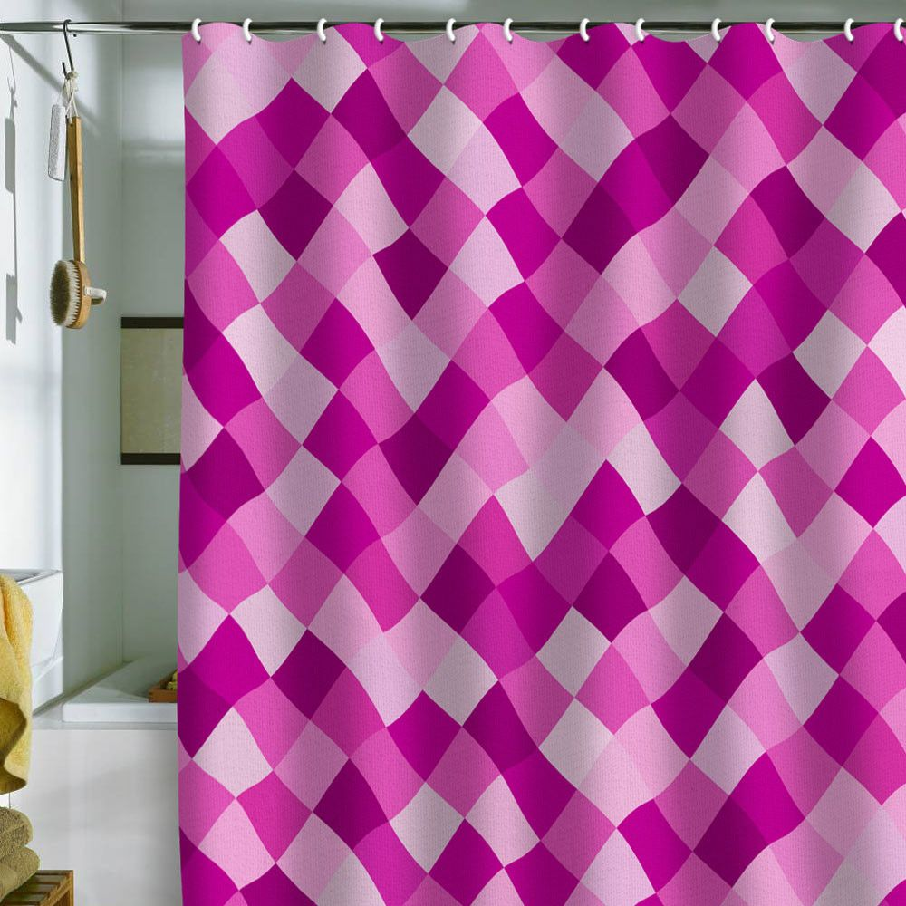 Bianca Green Pink Shower Curtain   Proceeds Go To Breast Cancer Awareness