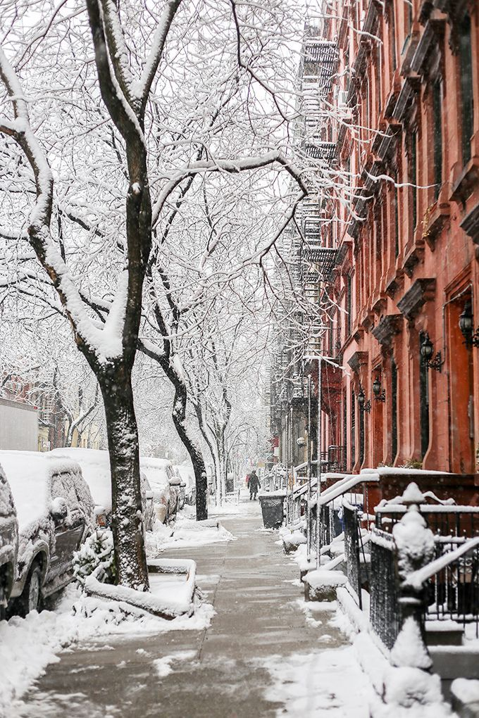 Pretty city covers in snow