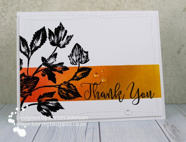 KarrenJ - Stamping Stuff: Thankful Leaves