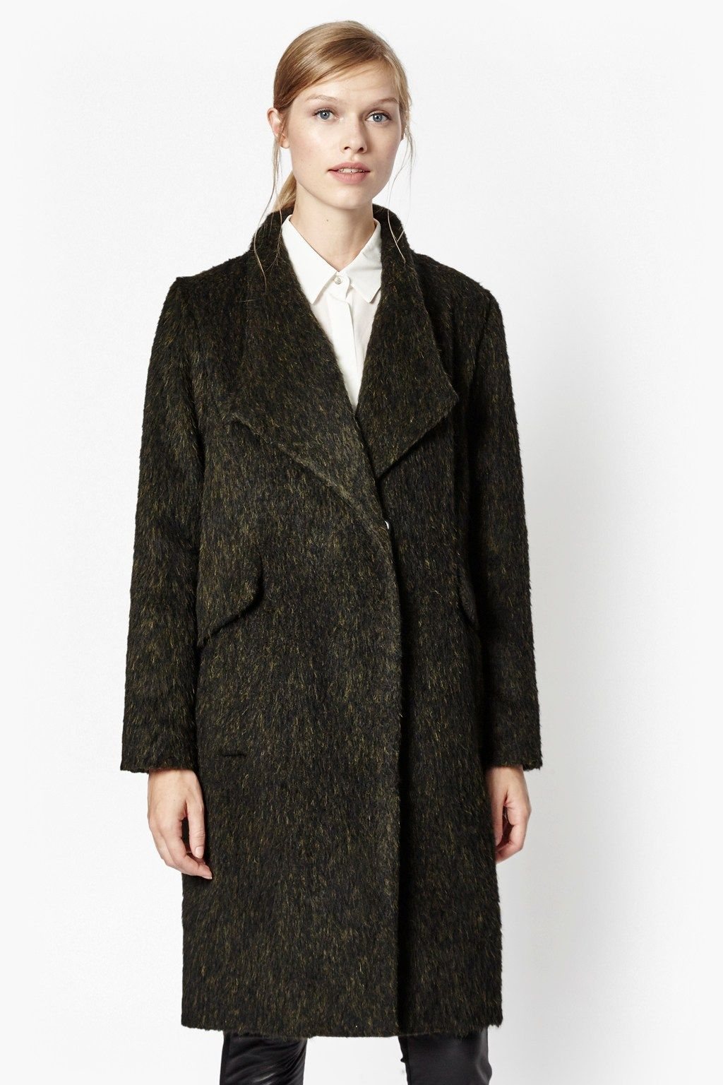 Tyler Wrap-Over Wool Coat | Sale | French Connection Usa