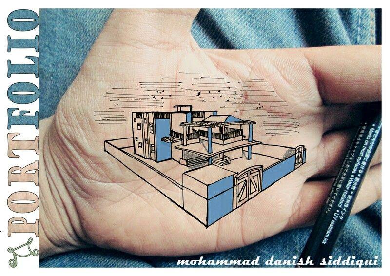 Architecture Architectural Portfolio Creative Sketch Cover