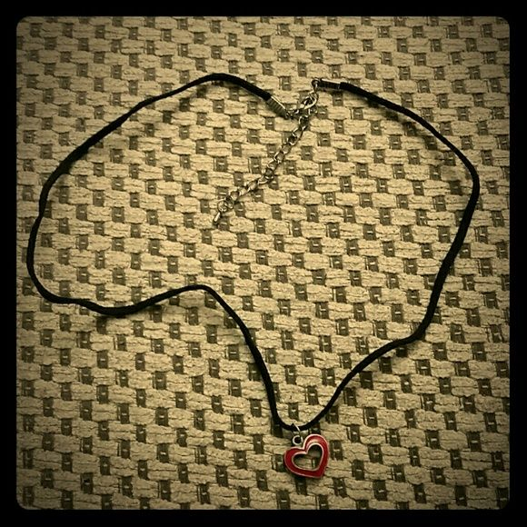 *NWOT* Handcrafted heart necklace black New without tag handcrafted red heart necklace color black. Make an offer or add to a bundle! Jewelry Necklaces