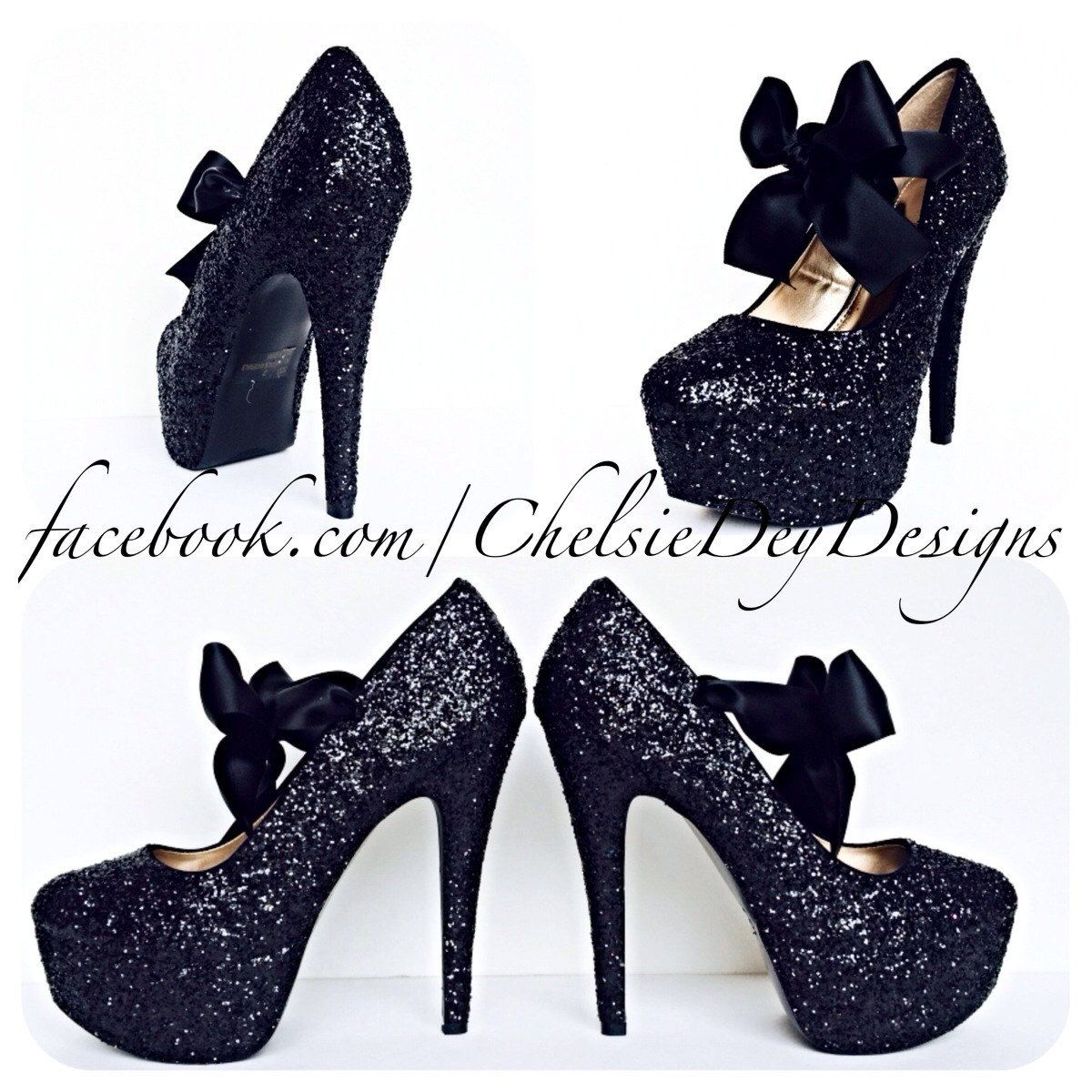 After dark glitter high heels pinned by pinetsy pretty