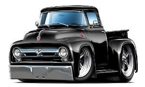 Buy 1956 Ford F100 Pickup Truck Wall Graphic Decal Sticker Man Cave Garage Decor Boys Room Decor by Viesin
