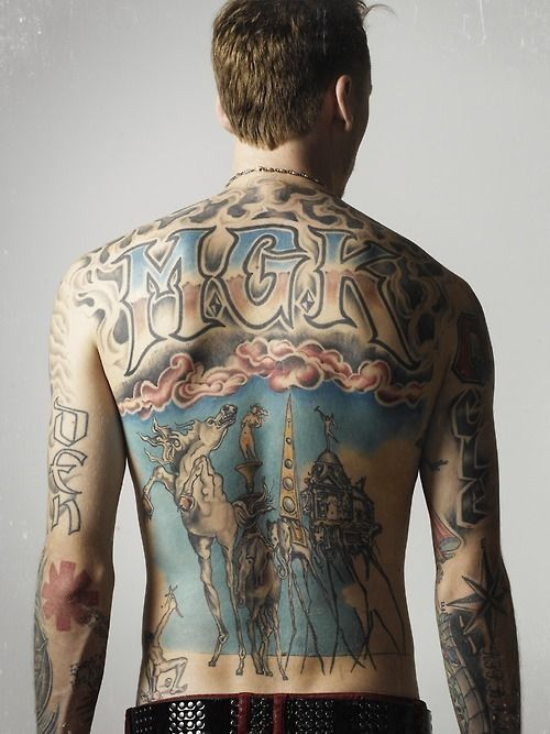Mgk Nails Scratching My Back Tatt Eyes Closed While You Scream Out