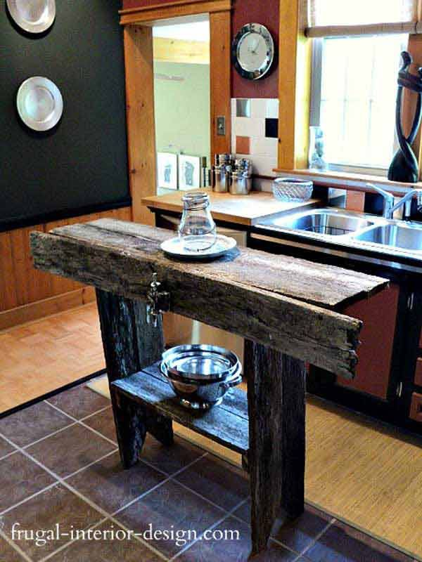 Perfect 32 Simple Rustic Homemade Kitchen Islands