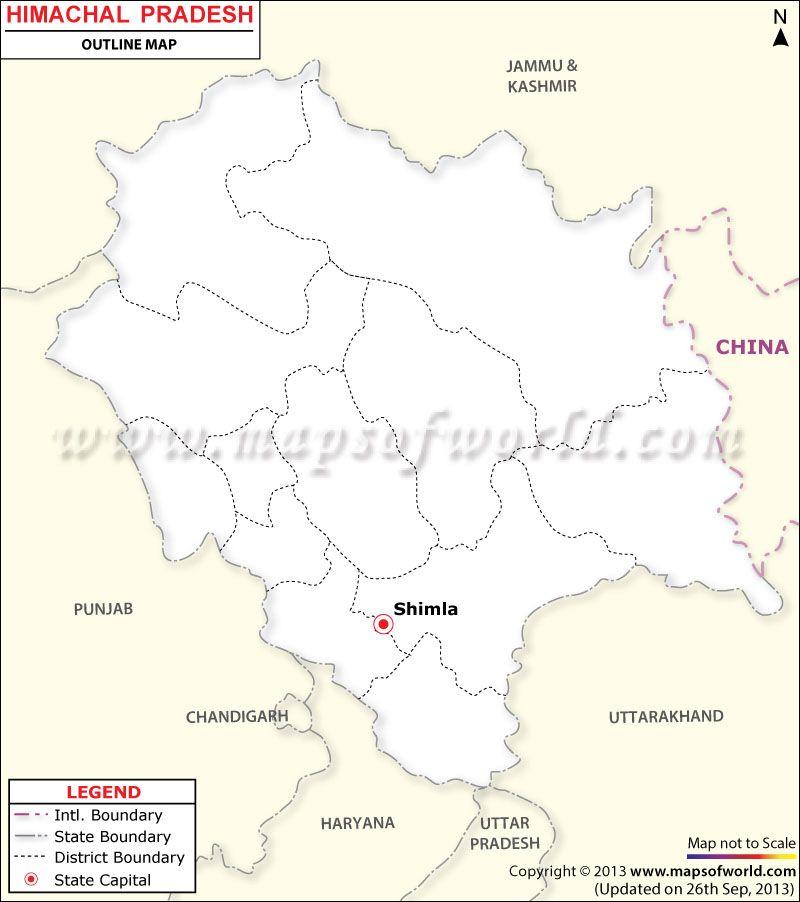 outline himachal pradesh political map Himachal Pradesh Outline Map Himachal Pradesh Map Outline outline himachal pradesh political map