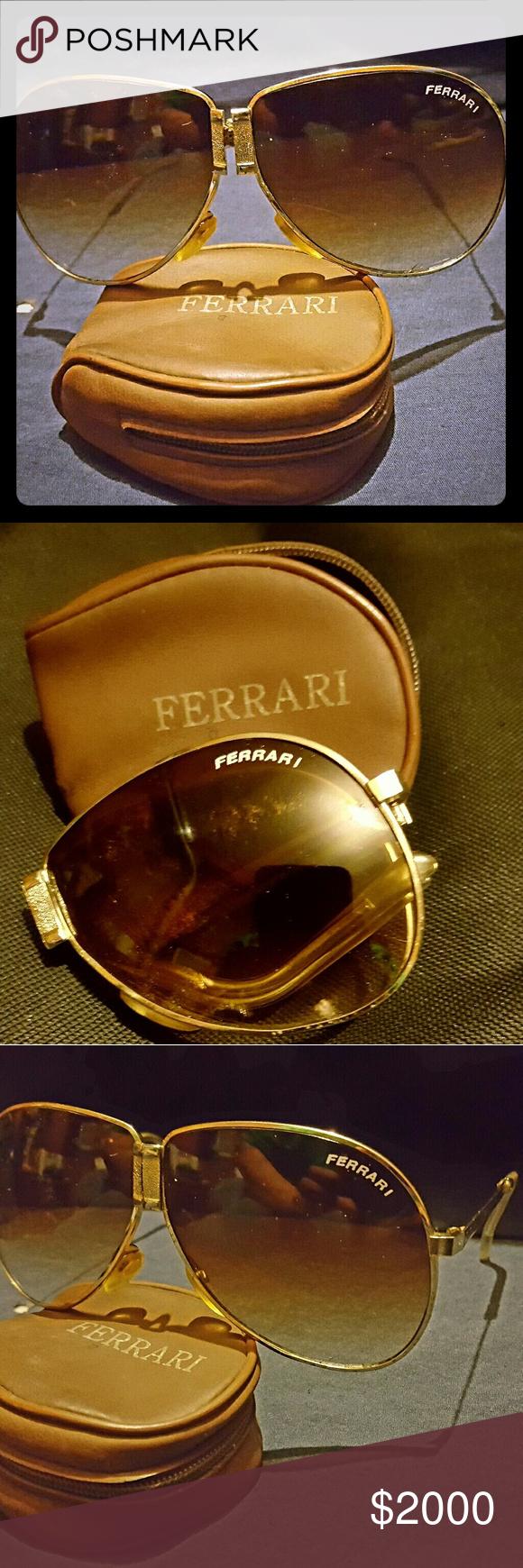 Vintage Ferrari Folding Sunglasses Folding Sunglasses Sunglasses Glasses Accessories