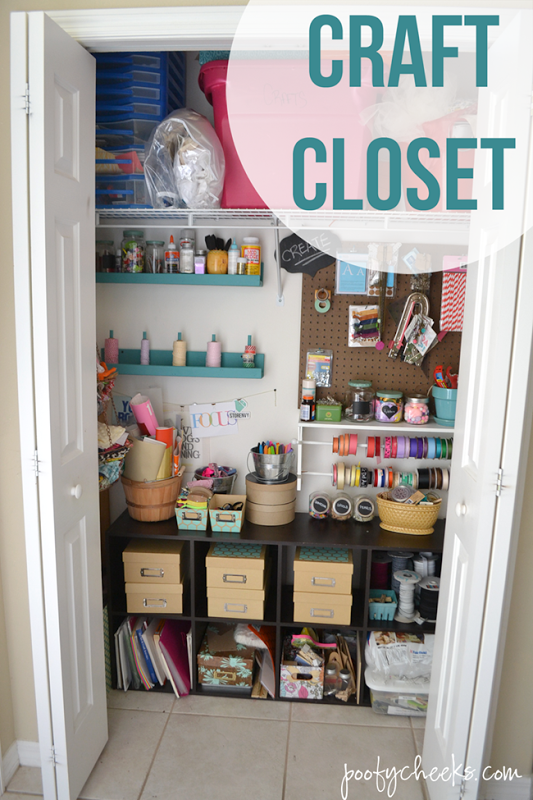 Craft Closet Storage Reveal