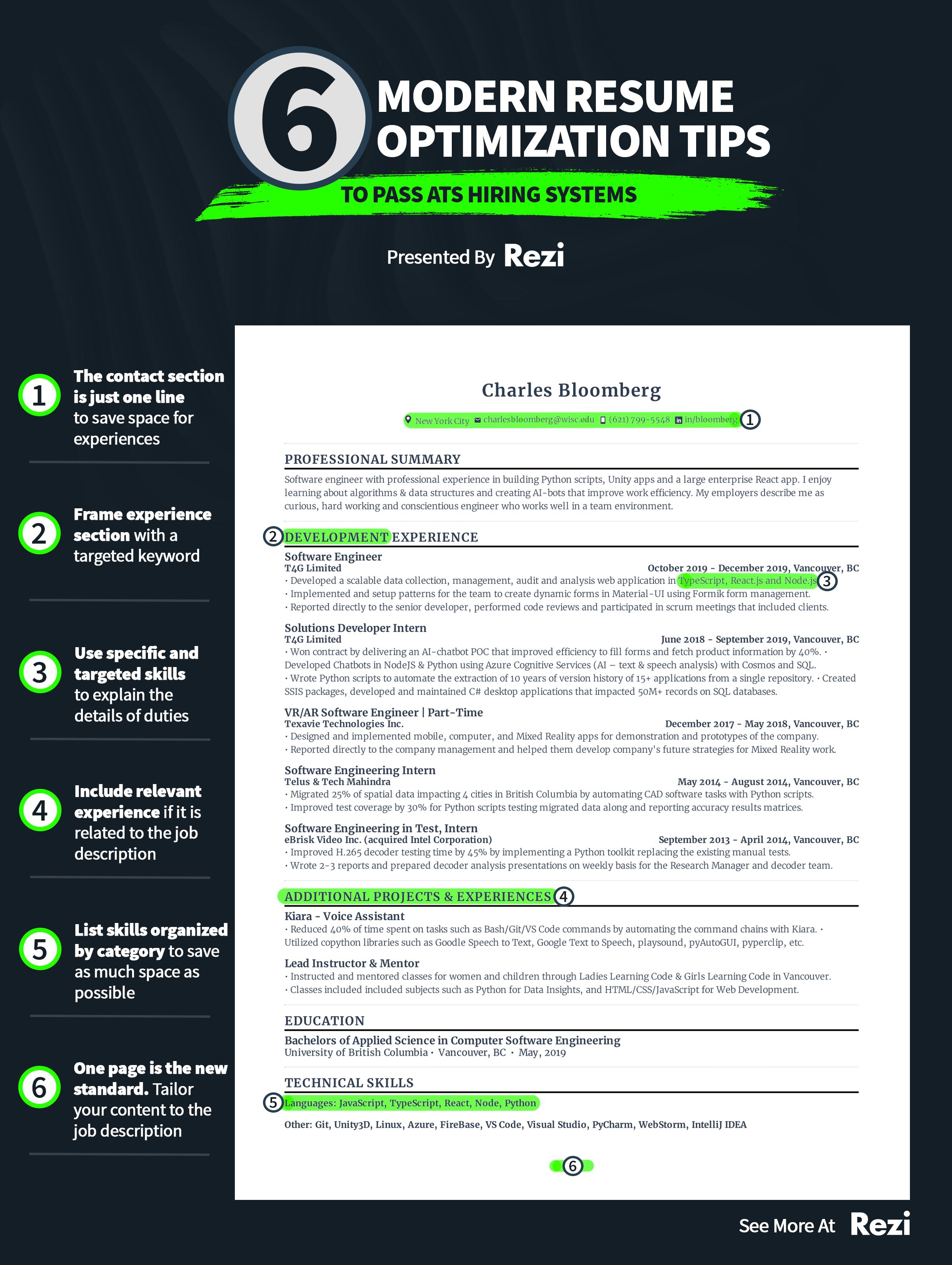 Simple Guide For A Resume Resume Resume Guide Modern Resume