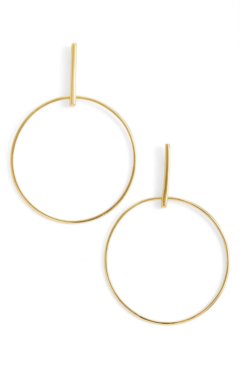 Argento Vivo Frontal Hoop Earrings   Nordstrom
