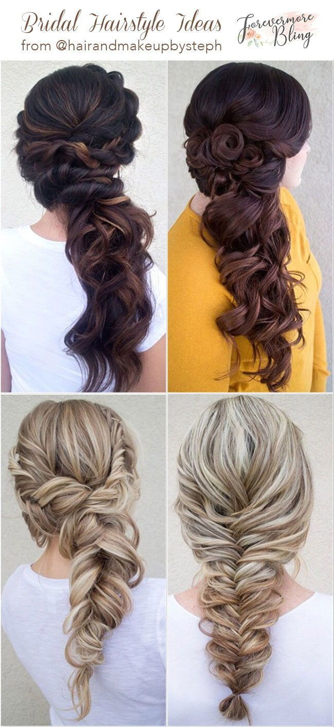 30+ Stunning Wedding Hair Styles from @hairandmakeupbysteph - Forevermorebling | Wedding Blog #loosebraids