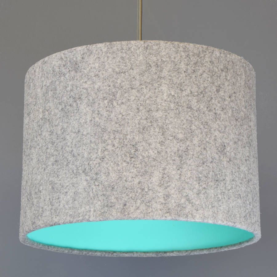 Grey wool felt lampshade with choice of coloured lining natural are you interested in our grey wool felt lampshade pendant with our natural lamp shade aloadofball Gallery