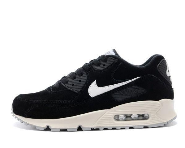 Billig Nike Air Max 90 Schwarz Weiß Herrenschuhe Verkauf Schuhe