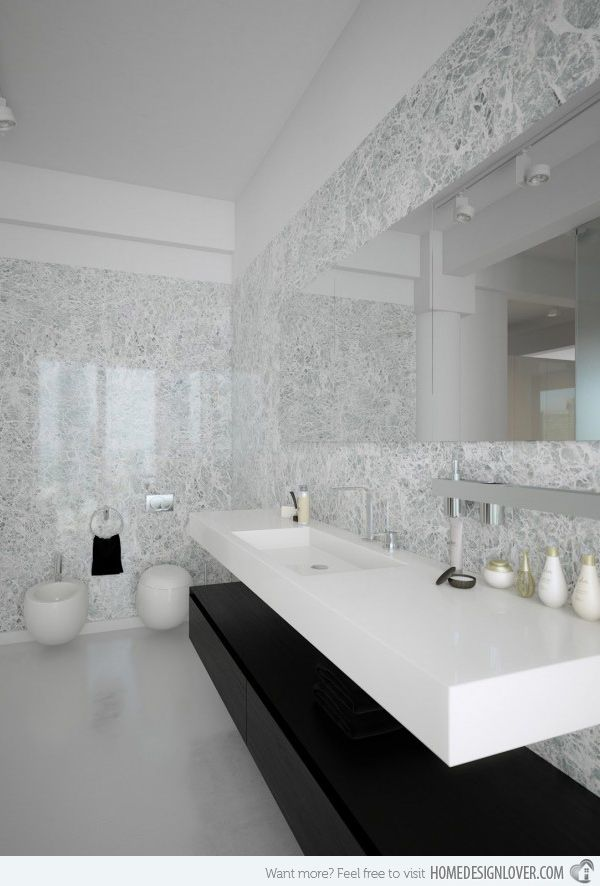 20 Eye Catching And Luxurious Black And White Bathrooms Minimalist Bathroom Design Contemporary Bathroom Designs Modern Bathroom Design