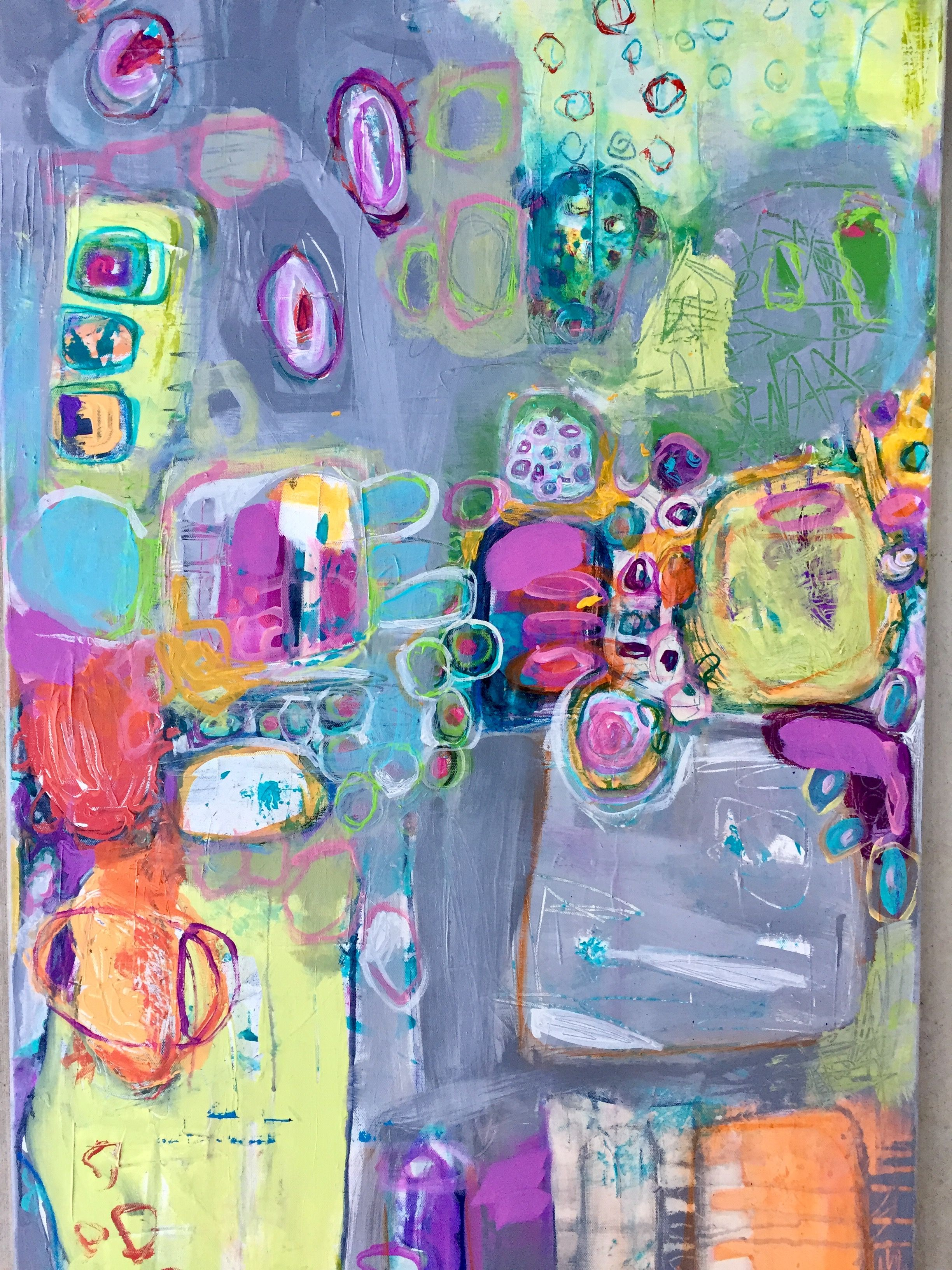 OH JOY 24x48 acrylic on canvas margotrowan.com | Artist Crush ...