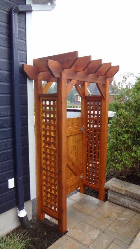Portes de jardin et tonnelles tonnelle porte jardin tonnelle jardin et portes de cl ture - Jardin cloture amenagement ...