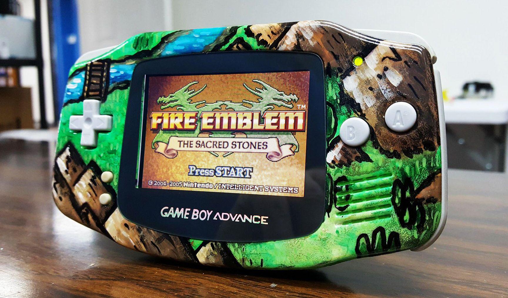 Unique Gameboy Advance Custom Paint Theme Fire Emblem Sacred Etsy Gameboy Gameboy Advance Nintendo Game Boy Advance
