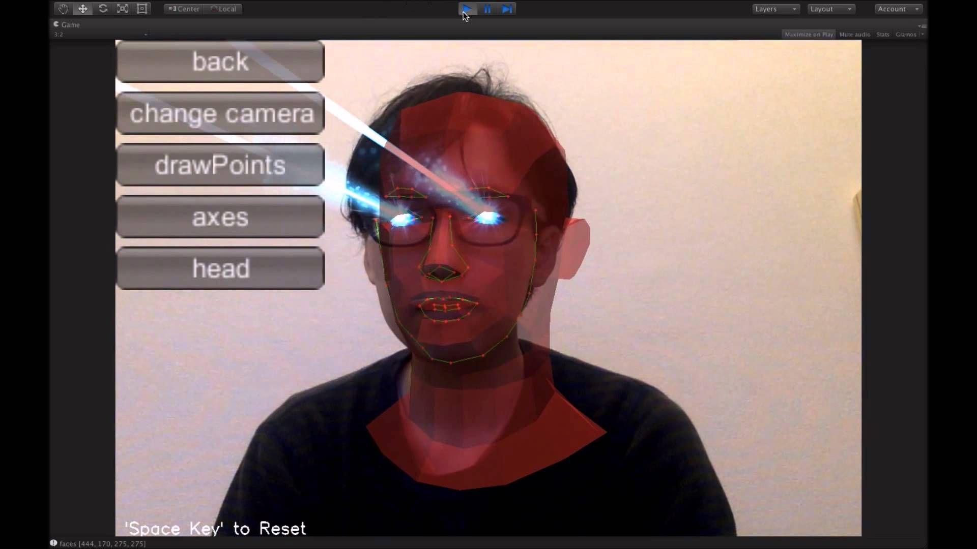 FaceTracker Sample using OpenCV for Unity | VR Idea Board in