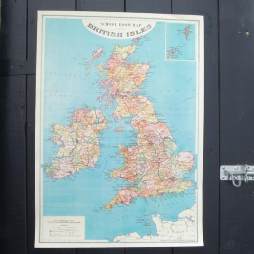 British isles school room map gift wrap 295 wickle geography buy the vintage british isles map frame at oliver bonas enjoy free uk standard delivery for orders over gumiabroncs Image collections