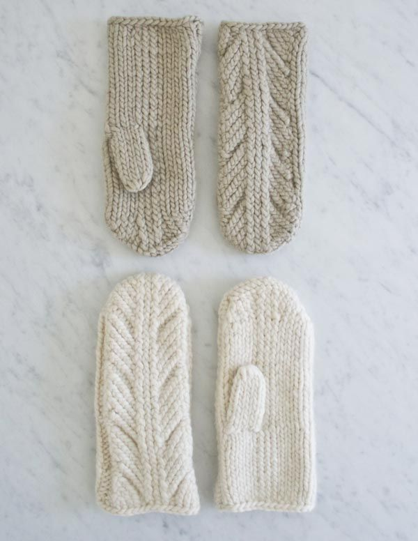 Super cute! Purl Soho- ancient stitch mittens free pattern ...