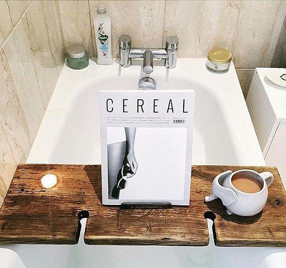 Wood Bath Board Bath Tray Book Holder Tablet Holder | EVERYTHING ...