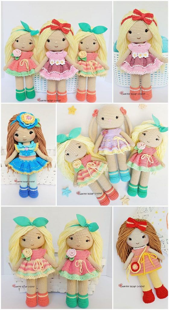 Amigurumi Best Doll Free Crochet Patterns - Amigurumi #crochetdolls