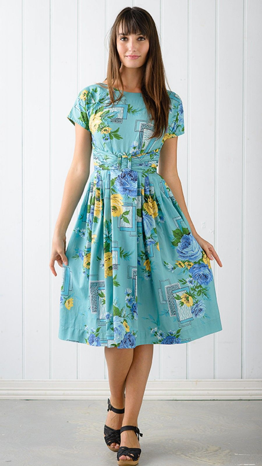 Olivia short sleeve dress in adeline the third row frocks