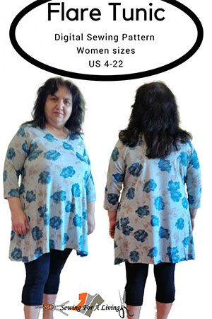 Free Tunic Pattern with detailed sewing instructions #tunicdesigns
