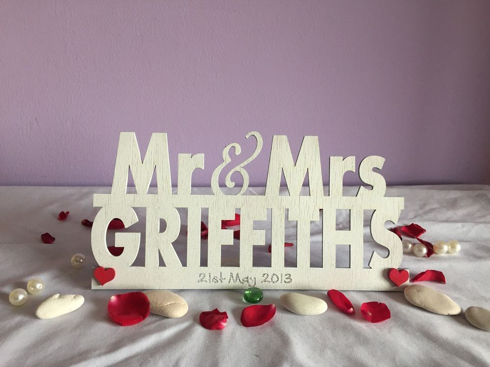 Details About Personalised Mr And Mrs Sign Wedding Top