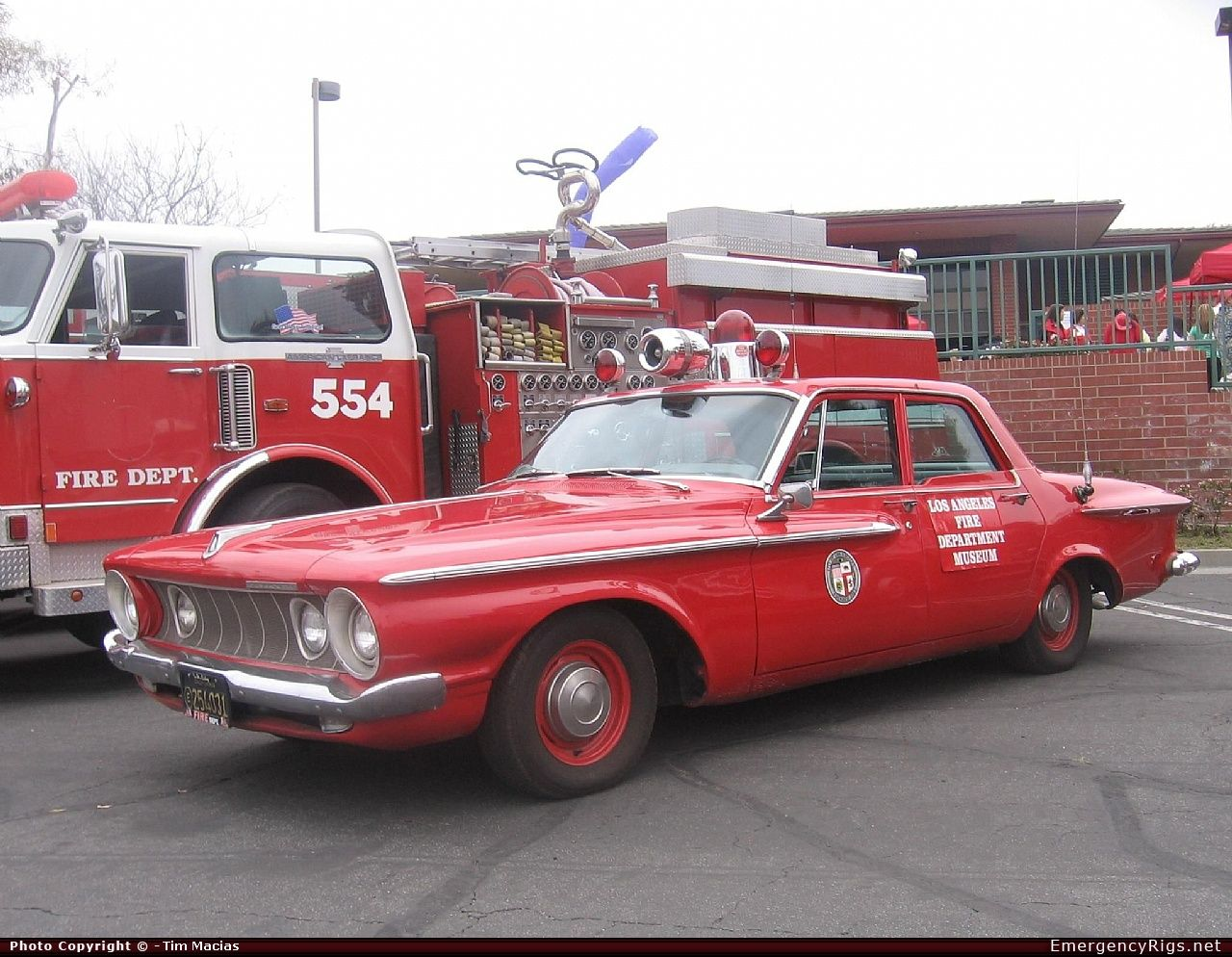 1962 plymouth command car with the los angeles fire department emergency apparatus fire truck. Black Bedroom Furniture Sets. Home Design Ideas