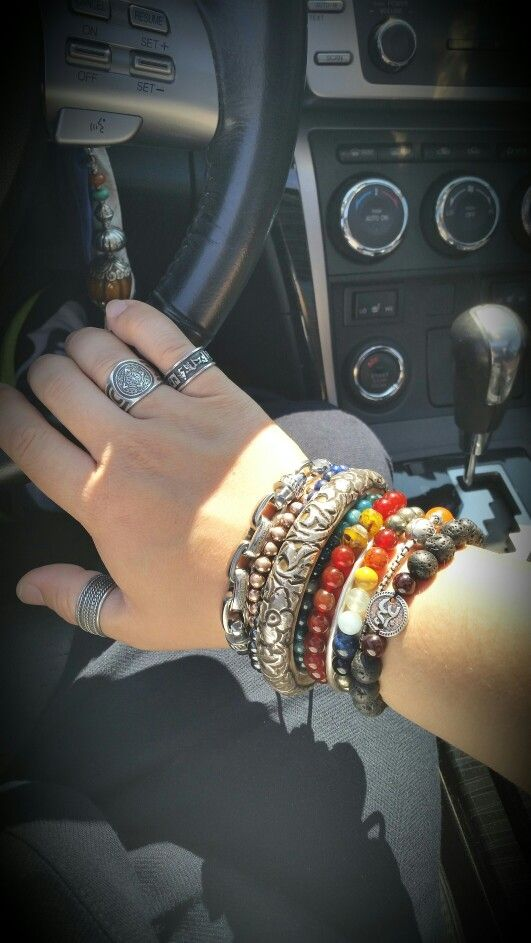 My new silver bangel from Tibet add it to my accessories...