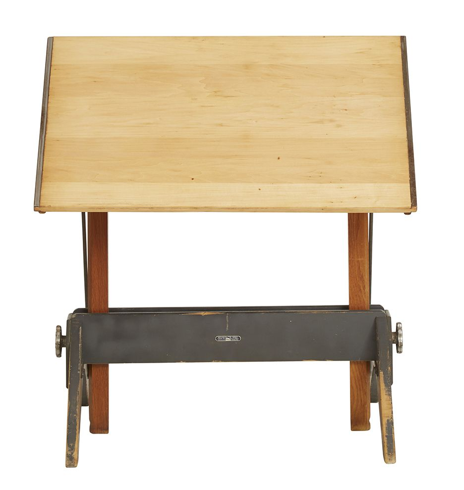 Mayline Drafting Table w/ Wooden Trestle Base ...