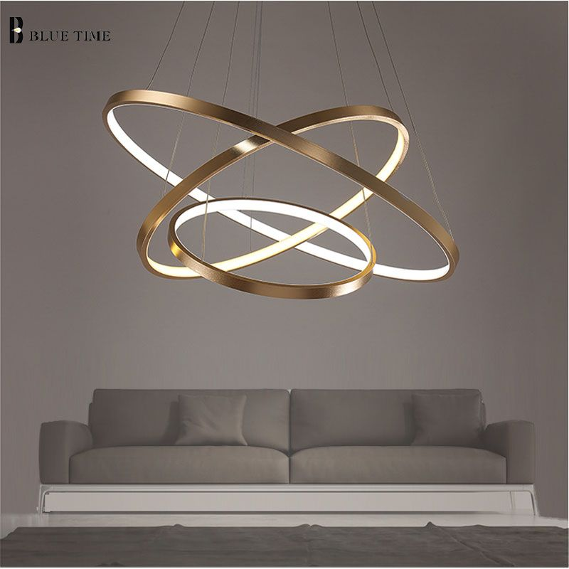 40cm 60cm 80cm Modern Pendant Lights For Living Room Dining Room Circle Rings Acrylic Aluminum Body Le Modern Chandelier Ring Chandelier Modern Luxury Lighting