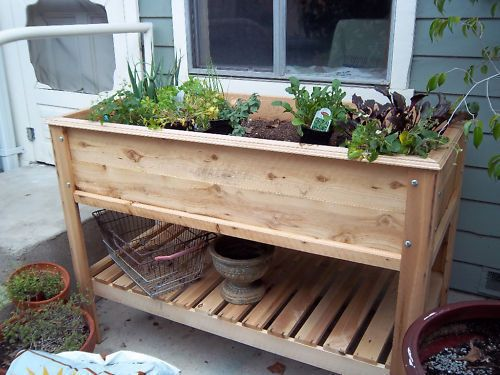 How to Build a Raised Garden Table | Pinterest | Gardens, Planters ...