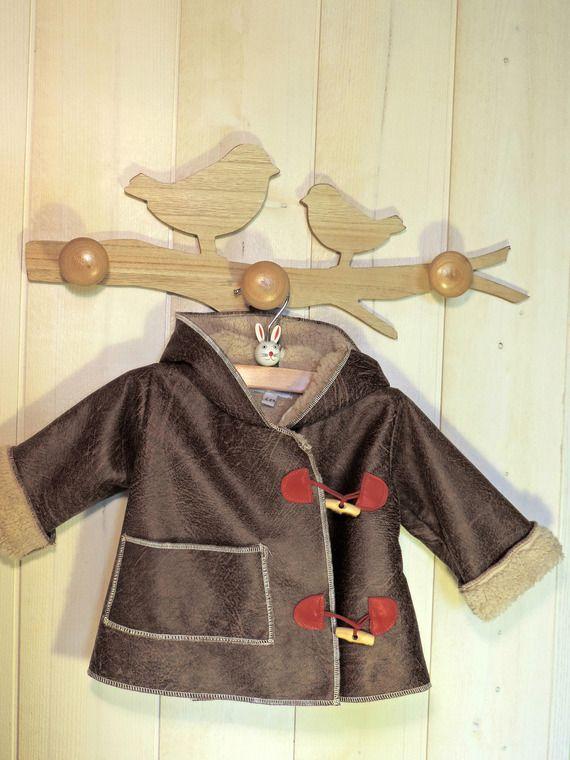 acheter pas cher a92bb d9607 Manteau aviateur pour bébé garçon | dame puce couture enfant ...