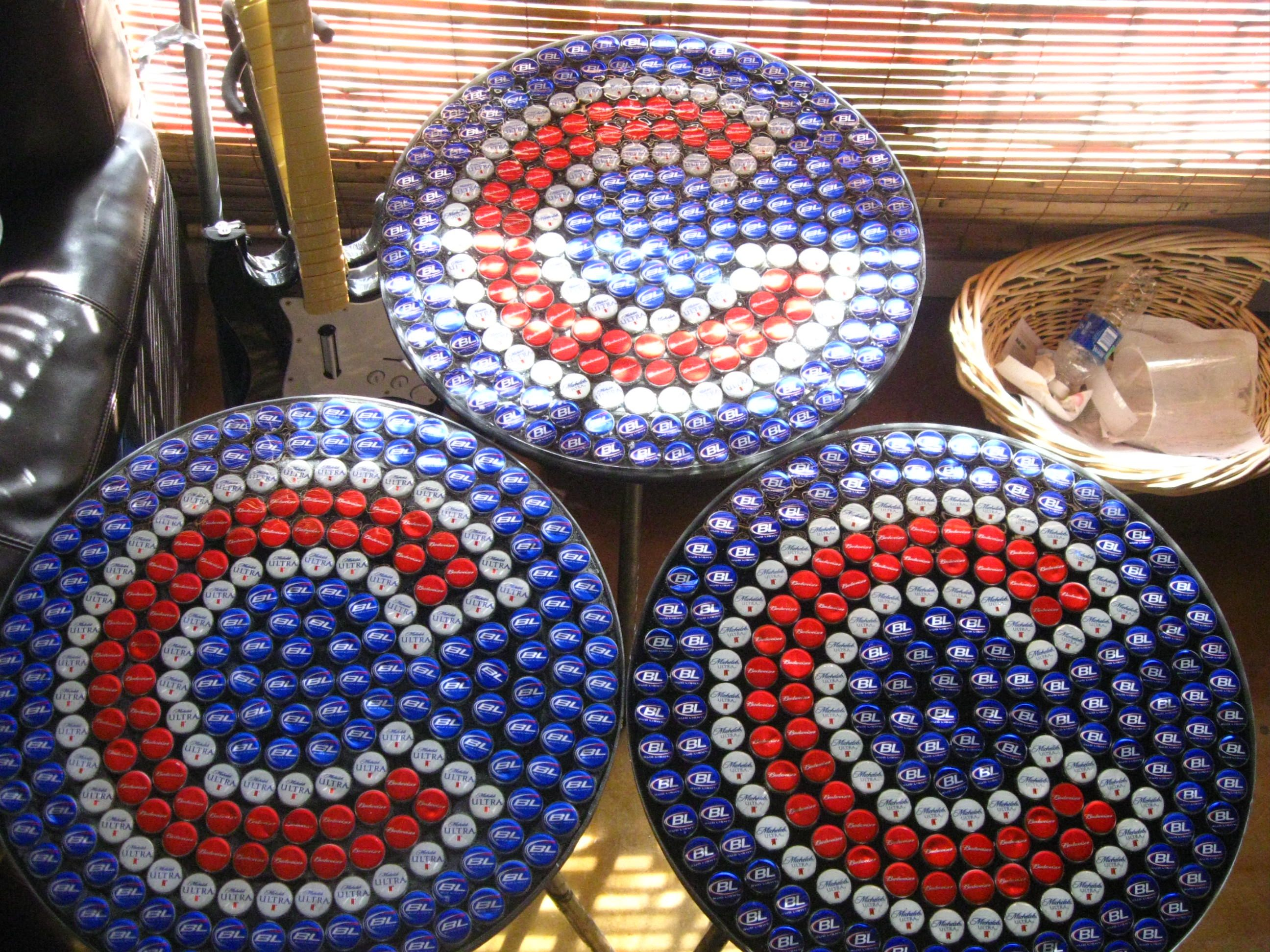 Best 25 Bottle cap table ideas on Pinterest