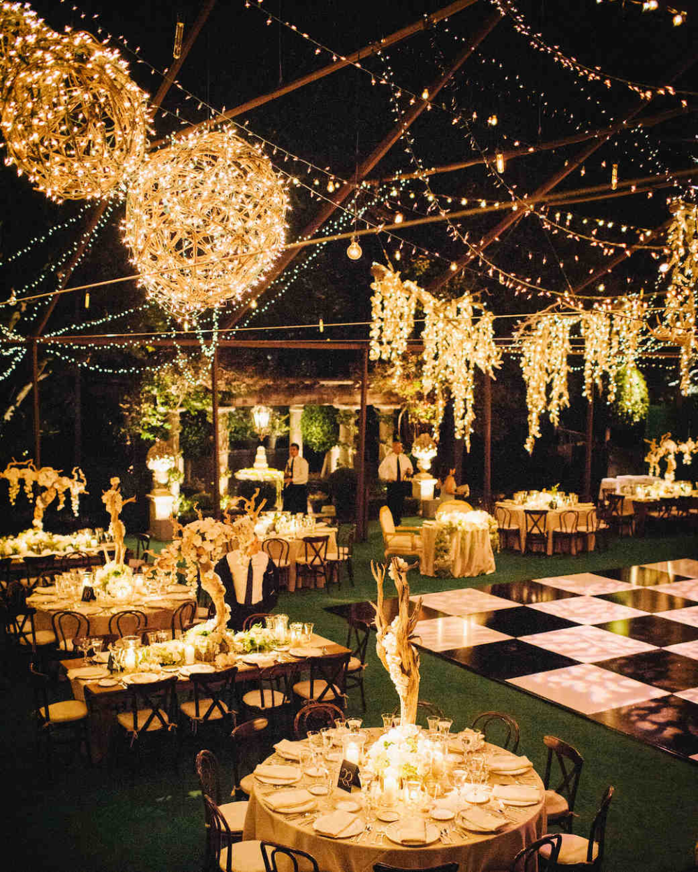 Outside Wedding Ideas With Garden Wedding Ideas On Outdoor Wedding Lighting Ideas From Real Celebrati In 2020 Wedding Lights Outdoor Wedding Lighting Romantic Backyard
