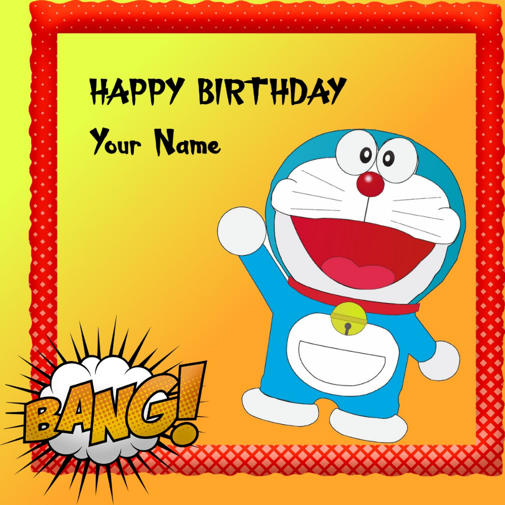 Doremon Happy Birthday Card Cartoon Birthday Greeting Happy Birthday Cards Birthday Cards Images Happy Birthday Cards Images