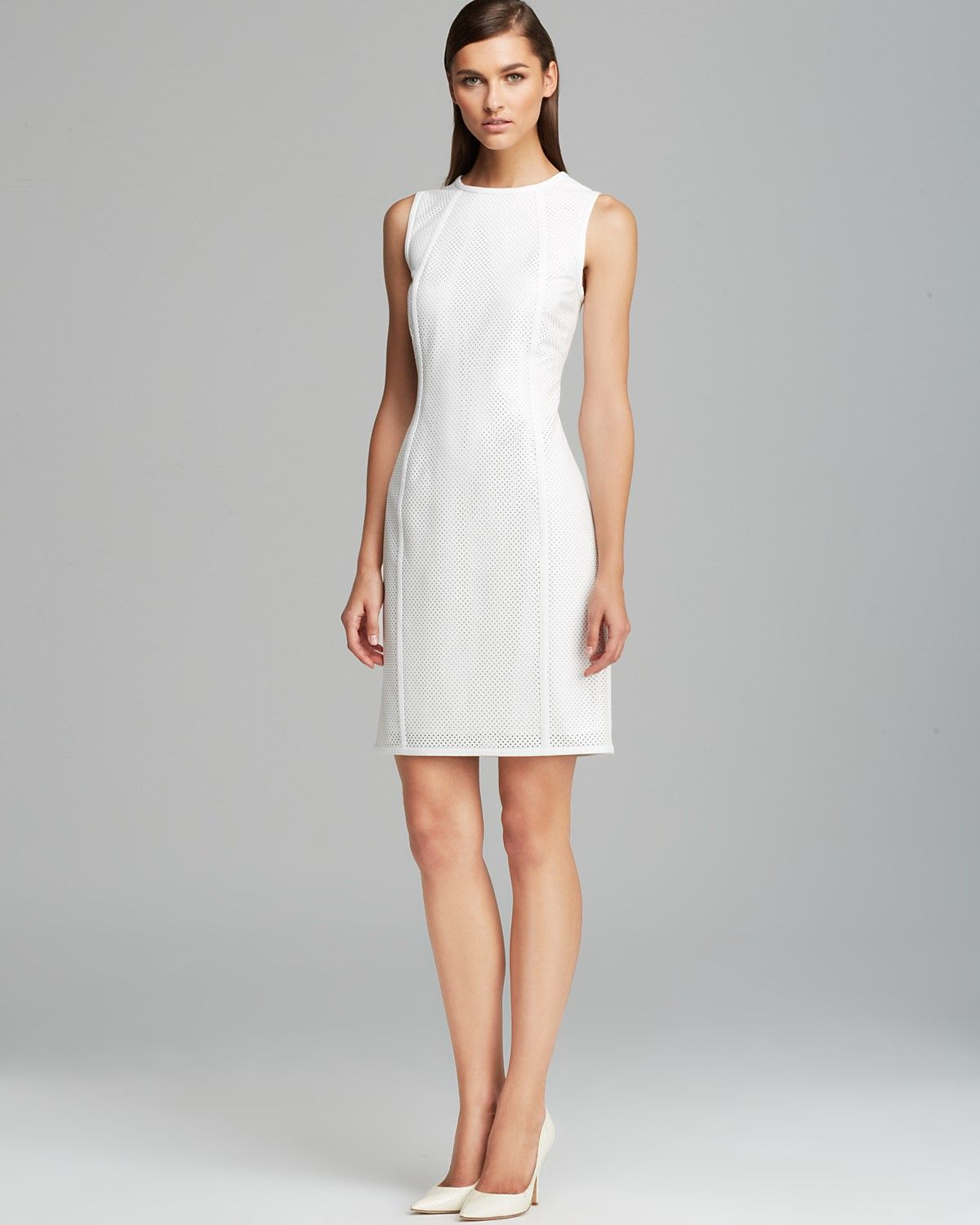 Calvin Klein Perforated Faux Leather Dress Women Dresses Bloomingdale S Leather Dress Women Faux Leather Dress Lace White Dress [ 1500 x 1200 Pixel ]