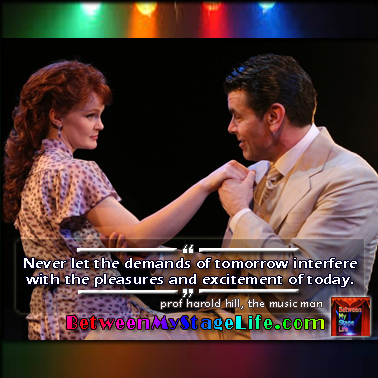 Today is your day. Never settle for anything less. #TheMusicMan #HaroldHill #ThisIsMyDay http://BetweenMyStageLife.com