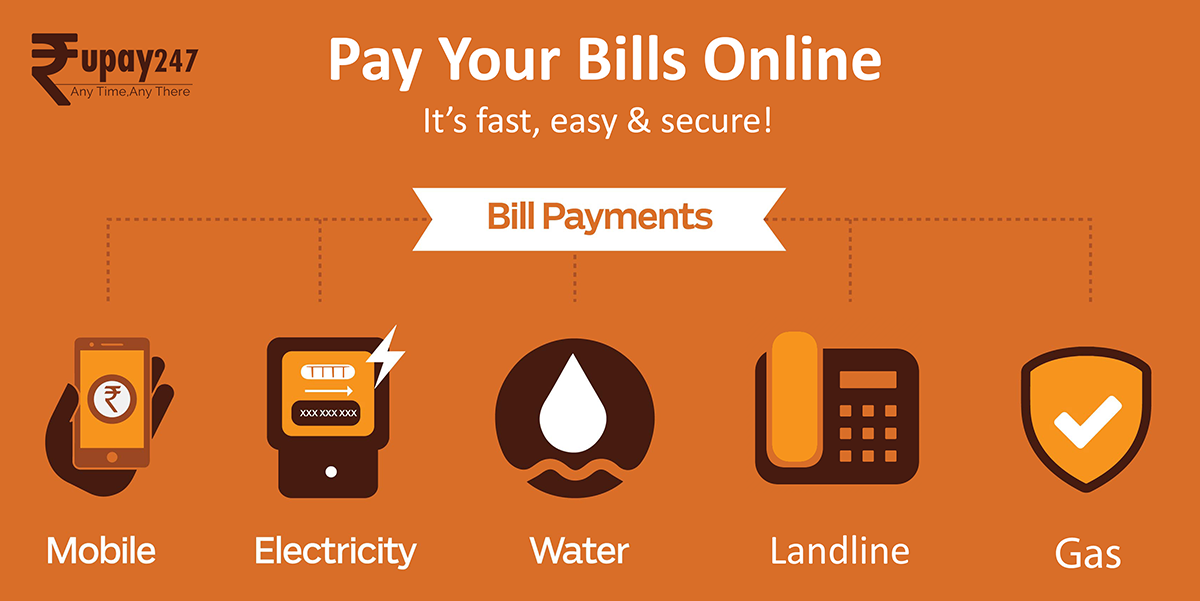 pay your electricity bill, water bill, gas bill, landline bill