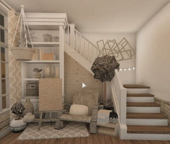 Aesthetic stair case area