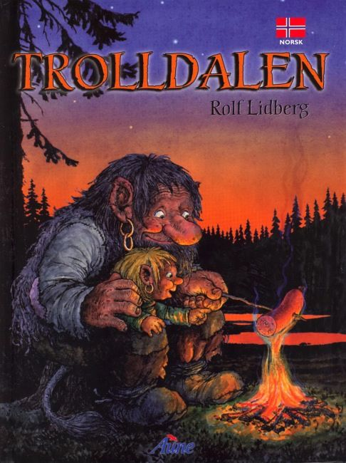 Rolf Lidberg Trolldalen A Little Troll Illustration Naive