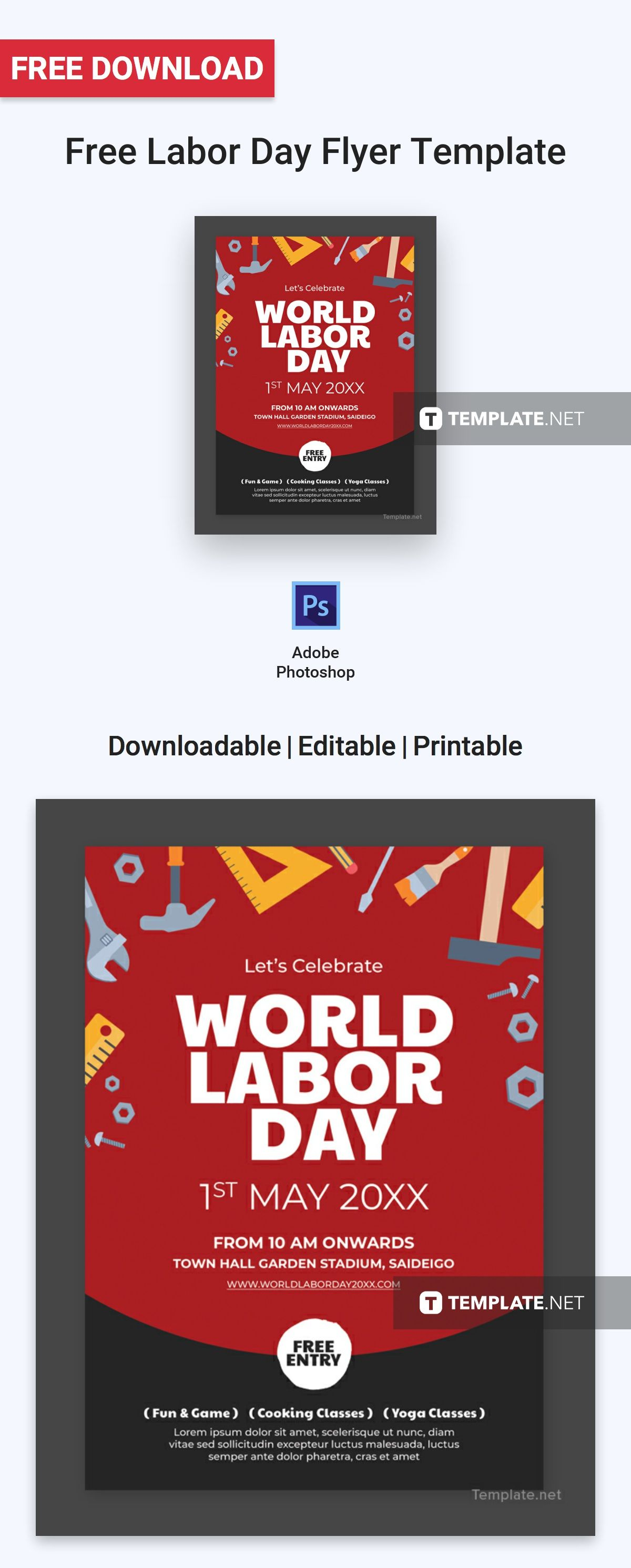free labor day flyer flyer templates designs 2019 flyer