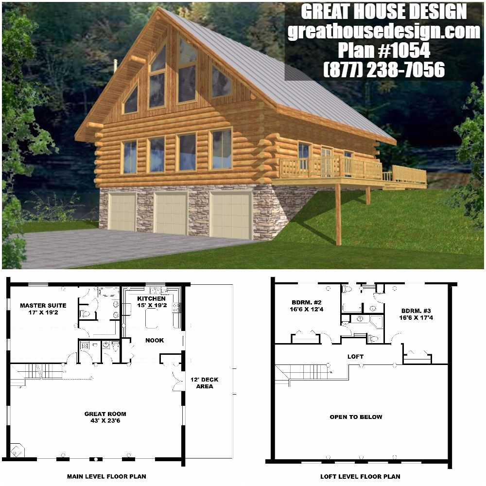 Home Plan 001 1054 Home Plan Great House Design House Plans Log Home Plans Cabin Plans