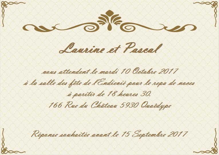 Modele Carte D Invitation Mariage Gratuit Lighteam